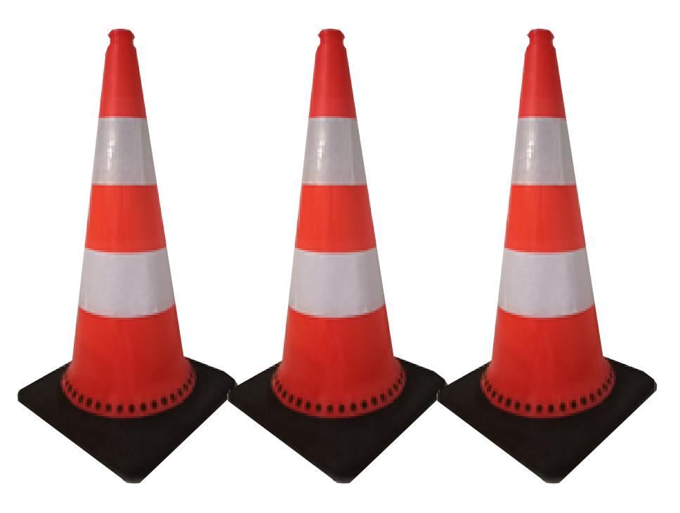 jual traffic cone base hitam