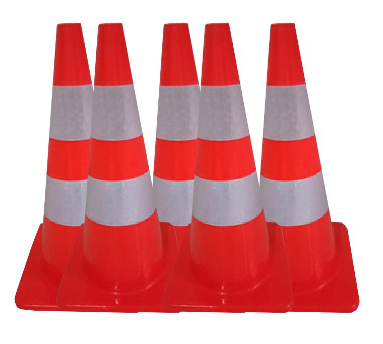 jual traffic cone base merah